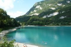 Lago di Tenno pláž